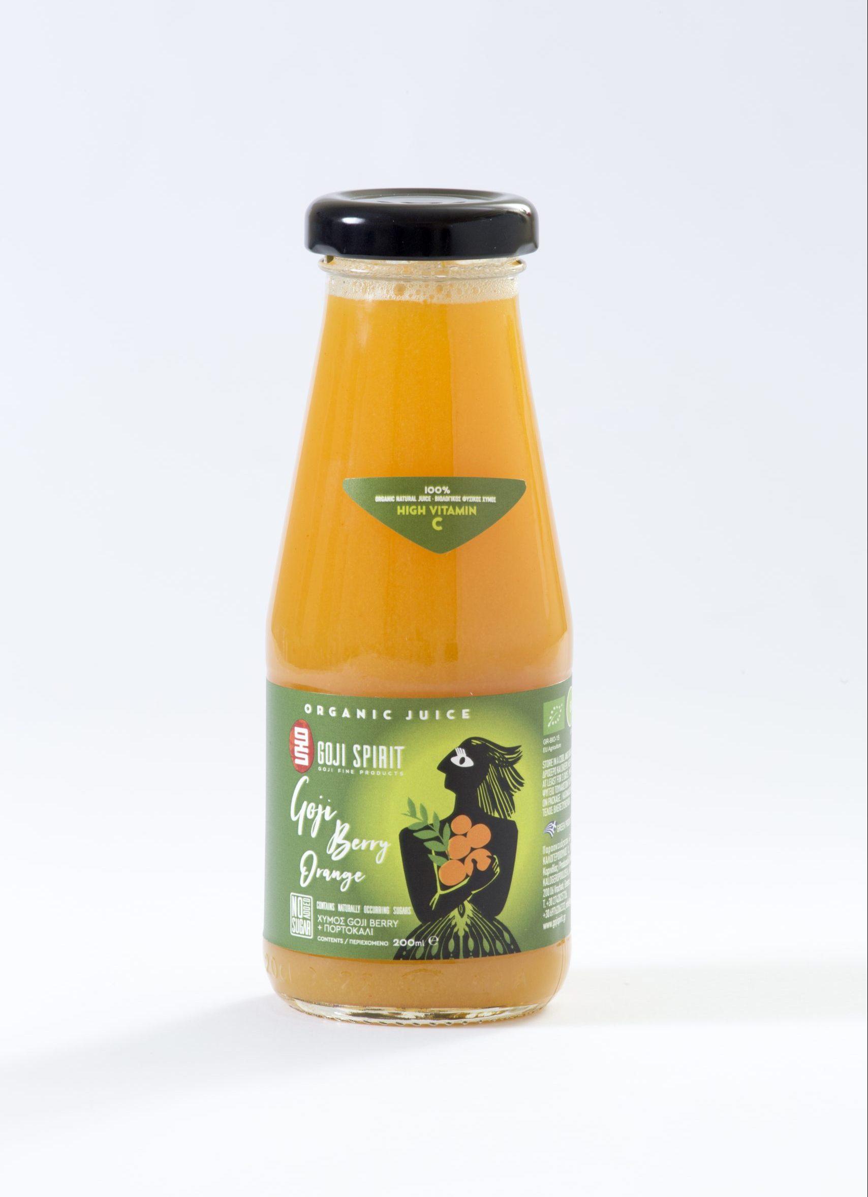 Βιολογικός Χυμός Goji Berry με Πορτοκάλι (200 ml)